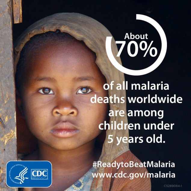About 70% of all malaria deaths worldwide are among children under 5 years old. www.cdc.gov/globalhealth
