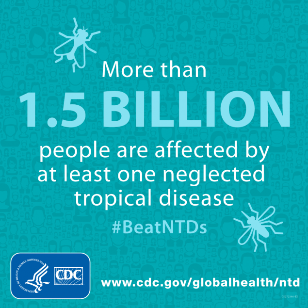 More than 1.5 billion people are affected by at least one neglected tropical disease.