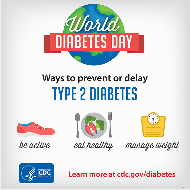 Ways to prevent or delay TYPE 2 DIABETES. be active. eat healthy. manage weight. www.cdc.gov/globalhealth