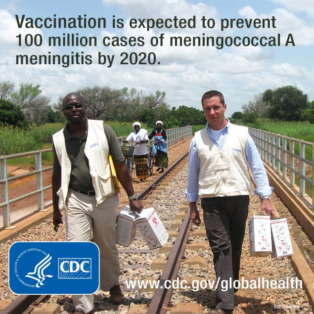 - MenAfriVac is expected to prevent 100 million cases of Meningococcal A Meningitis by 2020. www.cdc.gov/globalhealth