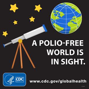 - A polio-free world is in sight. www.cdc.gov/globalhealth