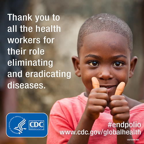 - Child Stoppers - Thank you to all the STOPPERS & other Health Workers for their role in eliminating and eradicating diseases. www.cdc.gov/globalhealth
