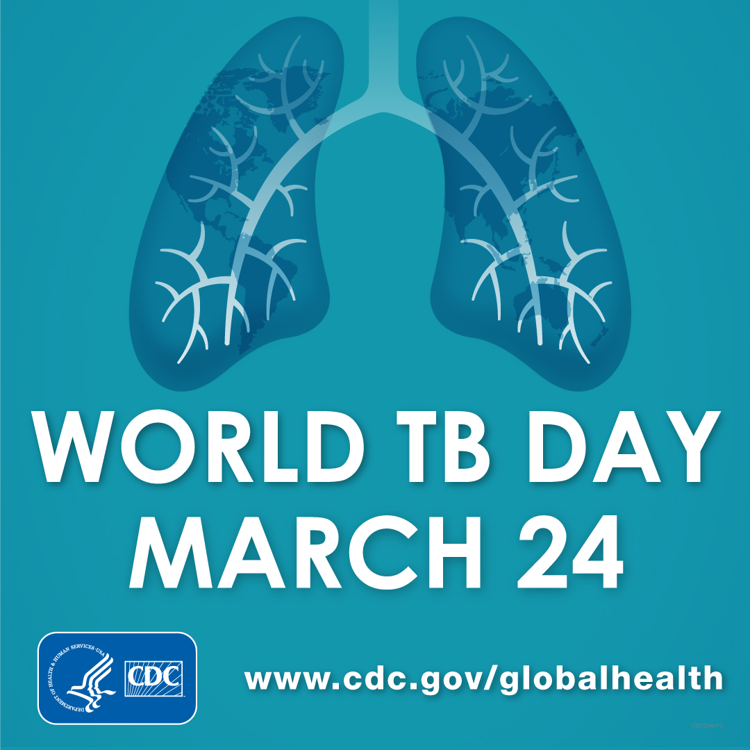 CDC's scientific and technical expertise are critical for global progress against tuberculosis. Together, we can #EndTB. #CDCFightsTB