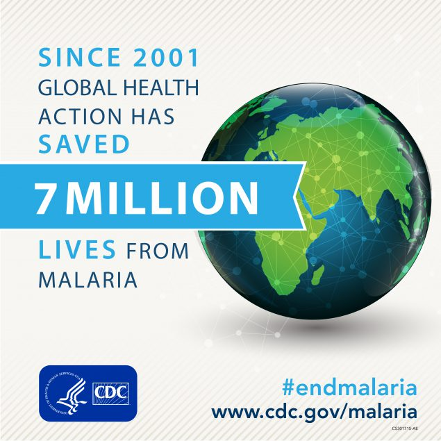 Since 2001 Global Healthaction has saved 7 million lives from malaria
