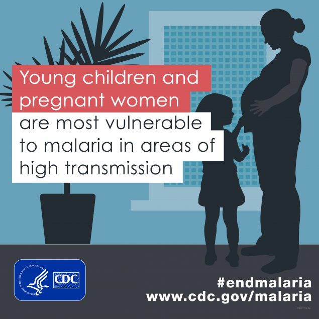 Young children & pregnant women are most vunerable to malaria in areas of high transmission