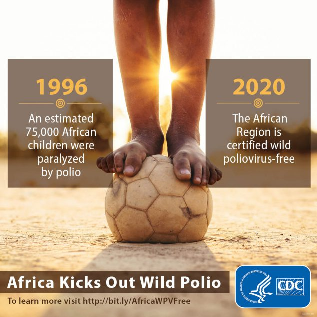 The African region is certified Wild-Polio-Virus-free
