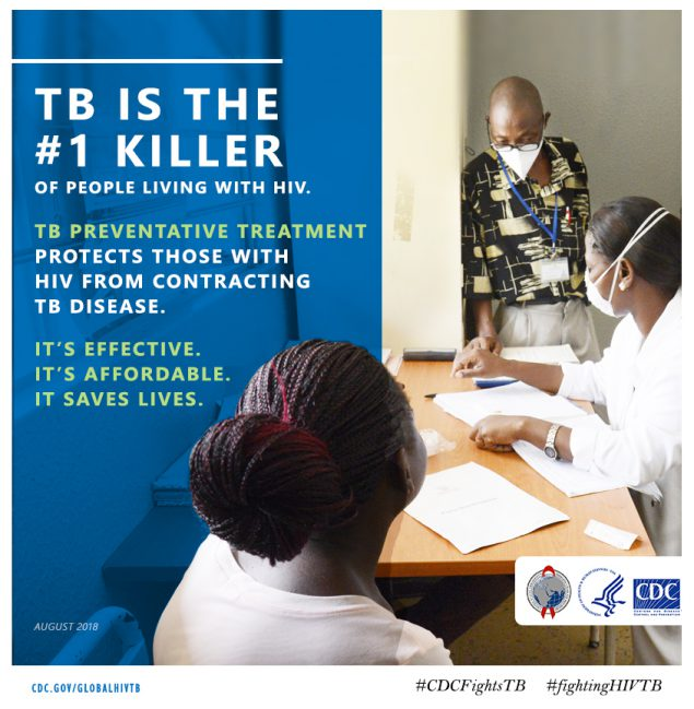 TB is the #1 killer of people with HIV. TB preventive treatment protects those with HIV from contracting TB disease. It's effective. It's affordable. It saves lives.