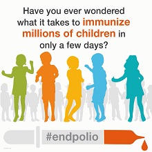 Have you ever wondered what it takes to immunize millions of children in only a few days? #endpolio