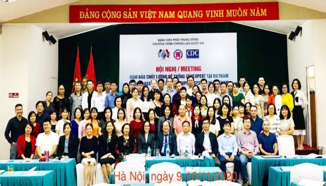 Participants in the Xpert MTB/RIF quality assurance workshop in Hanoi. November 2020.
