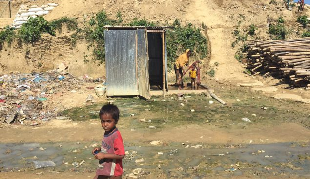 More than 900,000 displaced Myanmar nationals live in refugee camps in Bangladesh, under a threat of seasonal monsoon flooding and waterborne disease outbreaks.