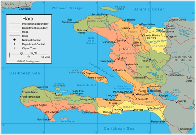 Cdc Global Health Stories Progress Made In Elimination Efforts - Map-of-haiti-and-us