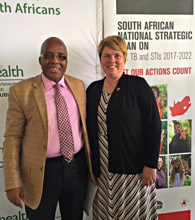 Health Minister Dr. Aaron Motsoaledi and CDC South Africa Country Director, Dr. Amy Herman-Roloff