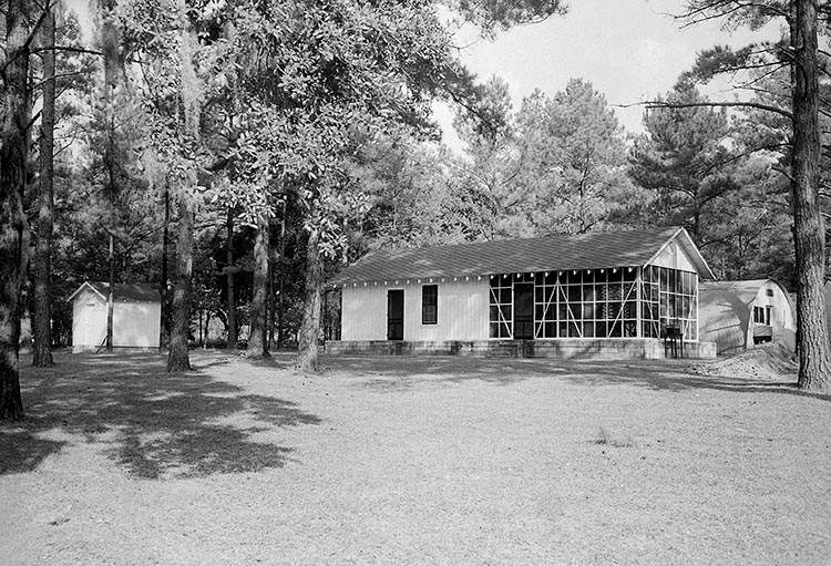 MCWA building in Newton, GA, sometime between 1942 and 1945. Photo from PHIL