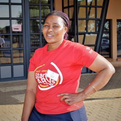 Once an orphan herself, Nthabiseng now serves as a community caregiver to children orphaned by HIV