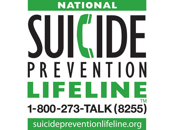 National Suicide Prevention Lifeline, 1-800-273-Talk (8255), suicide prevention life line dot org