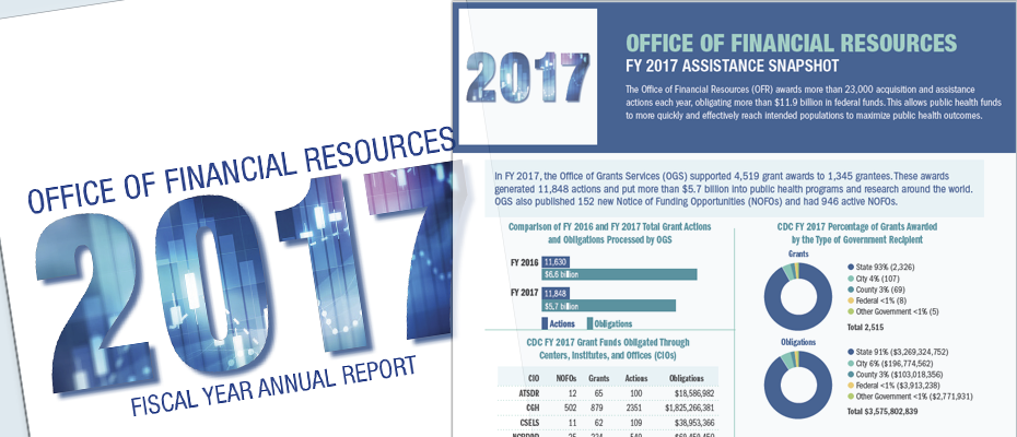 Office of Financial Resources fiscal year 2017 assistance snapshot