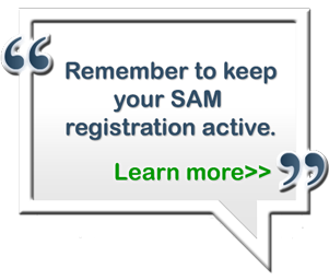 Remember to keep your SAM registration active, Learn more