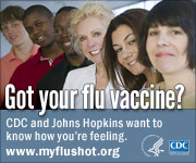 Got your flu vaccine? CDC and Johns Hopkins want to know how you're feeling. www.myflushot.org