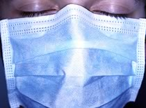 Photo of person wearing facemask