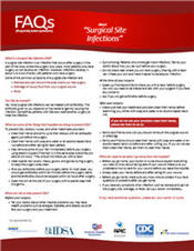 Surgical Site Infection fact sheet