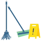 Use cotton or microfiber mops for cleaning floors.