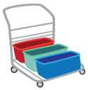 Use a 3 bucket cart to clean floors if a cleaning cart is not available.