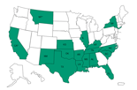States that have received recalled methylprednisolone acetate product from Main Street Family Pharmacy since December 1, 2012