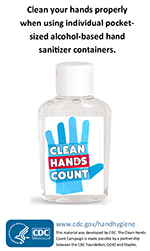 ABHS Pocket Cards - Hand Sanitizer