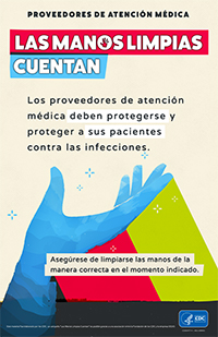 Clean Hands Count Spanish Poster