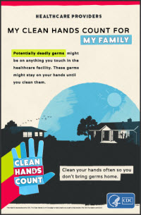 Provider Poster My clean hands count for my family