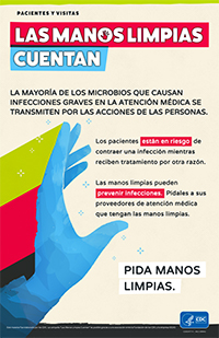 Speak Up for Clean Hands Spanish Poster