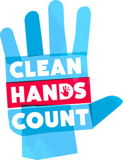 Clean hands count campaign logo