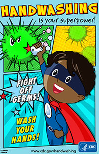 image regarding Free Printable Hand Washing Posters identified as Posters Handwashing CDC