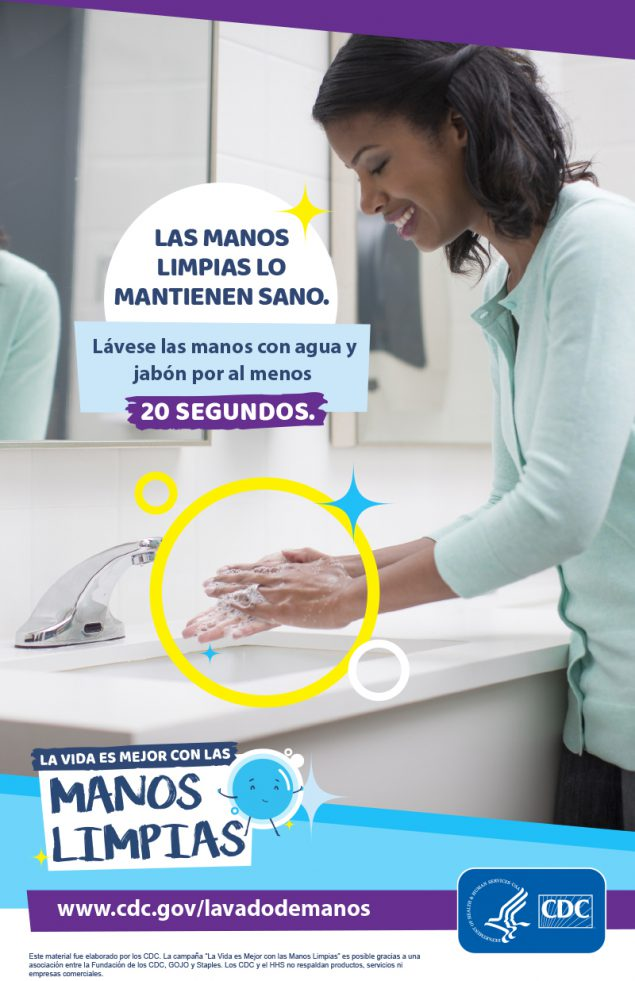 Clean hands keep you healthy - woman washing her hands