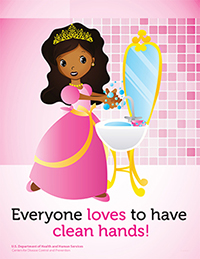 Poster featuring a princess with african american features