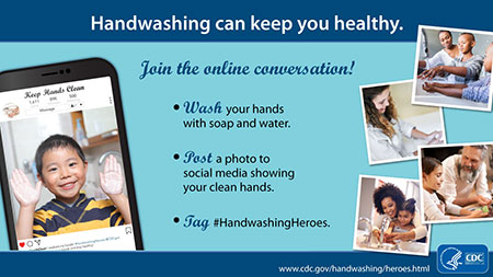 Social Media handwashing facebook live image