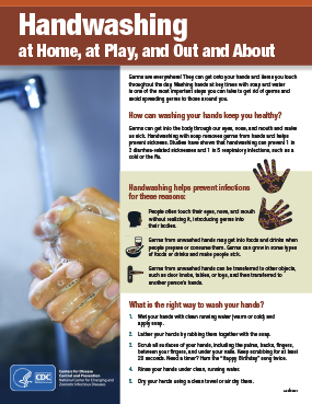 handwashing at home, at play, and out and about