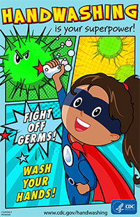Super girl Handwashing is your superpower