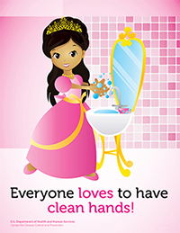 Poster featuring a princess with hispanic features