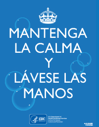Keep Calm and Wash Your Hands (spanish version)