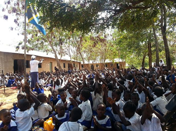 students in Tanzania learn about hand hygiene