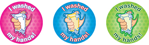 stickers - I washed my hands