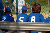 photo: baseball players on bench