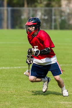 photo: lacrosse player