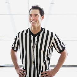 photo of smiling referee