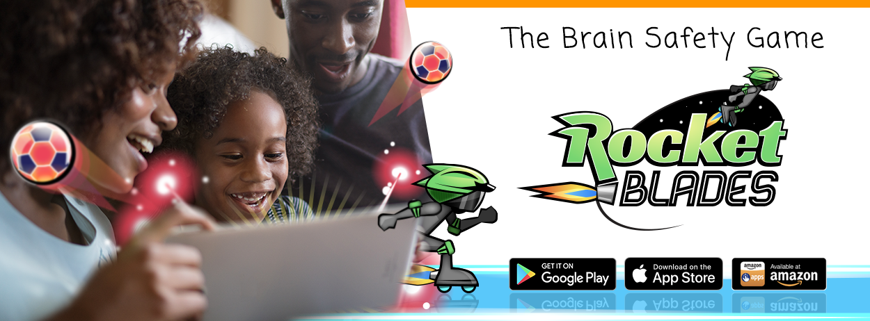 The Brain Safety Game: Rocket Blades. Get it on Google Play, Download on the App Store, Available at Amazon.