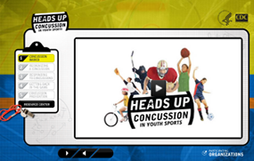 Screen shot of youth sports online concussion training