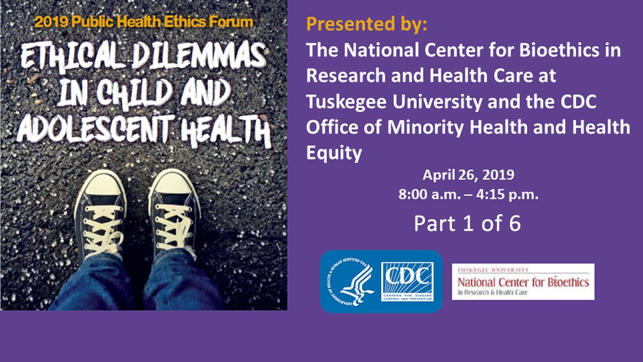 2019 Public Health Ethics Forum   Health Equity   CDC
