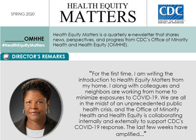 thumbnail image of health equity matters newletter