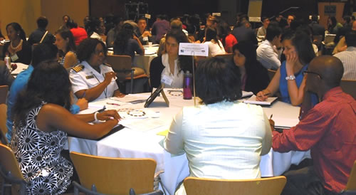 group of students at CDC Undergraduate Public Health Scholars program orientaton
